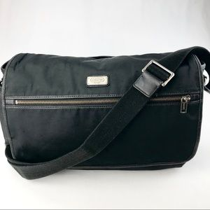 Coach Black Nylon Transatlantic Messenger Bag